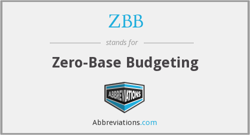 ZBB - Zero-Base Budgeting