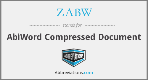 ZABW - AbiWord Compressed Document