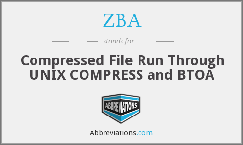 ZBA - Compressed File Run Through UNIX COMPRESS and BTOA