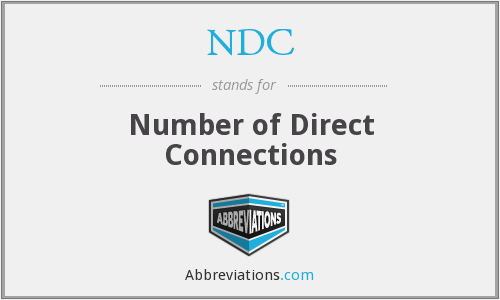 NDC - Number of Direct Connections