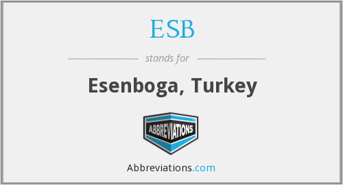 ESB - Esenboga, Turkey