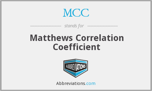 MCC - Matthews Correlation Coefficient
