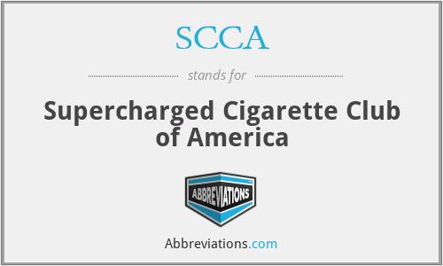 SCCA - Supercharged Cigarette Club of America
