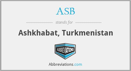 ASB - Ashkhabat, Turkmenistan