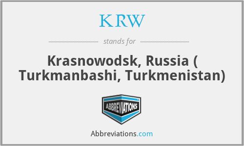 KRW - Krasnowodsk, Russia ( Turkmanbashi, Turkmenistan)