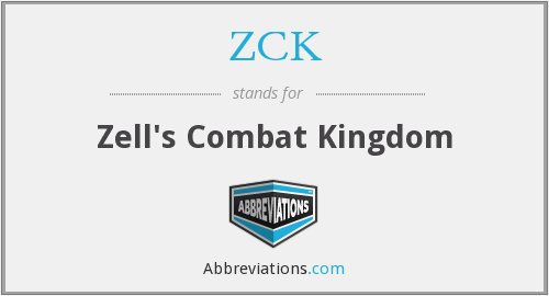 What does ZCK stand for?