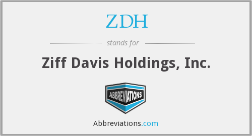 What does ZDH stand for?