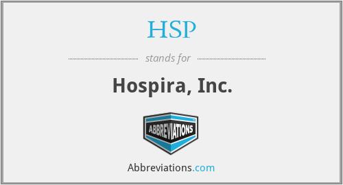 HSP - Hospira, Inc.