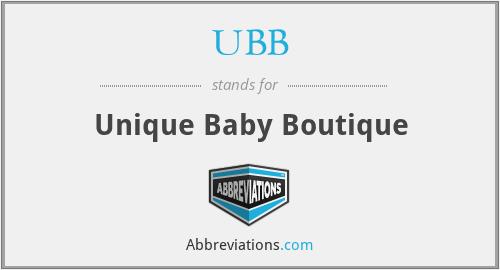 UBB - Unique Baby Boutique
