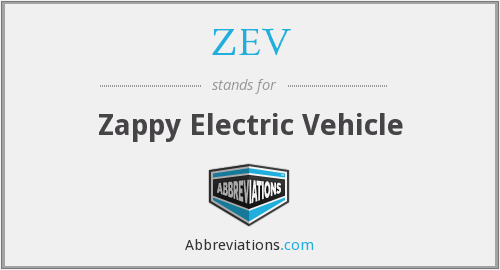 ZEV - Zappy Electric Vehicle