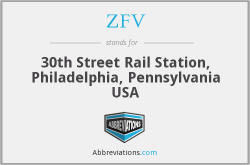 ZFV - 30th Street Rail Station, Philadelphia, Pennsylvania USA