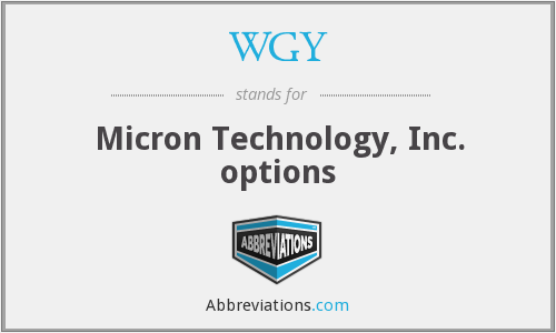 WGY - Micron Technology, Inc. options
