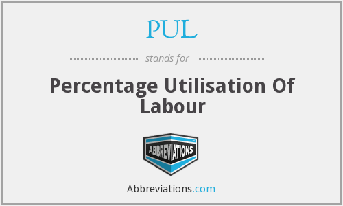 PUL - Percentage Utilisation Of Labour
