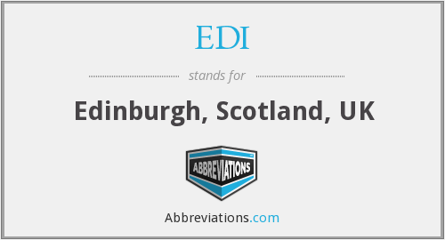 EDI - Edinburgh, Scotland, UK