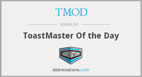 TMOD - ToastMaster Of the Day