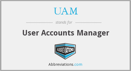 UAM - User Accounts Manager