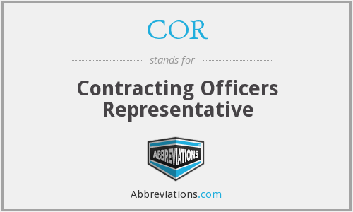 COR - Contracting Officers Representative