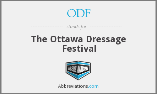 ODF - The Ottawa Dressage Festival