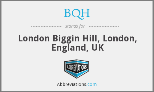 What does BQH stand for?