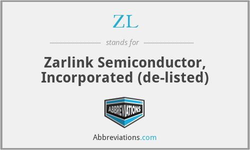 ZL - Zarlink Semiconductor, Inc.