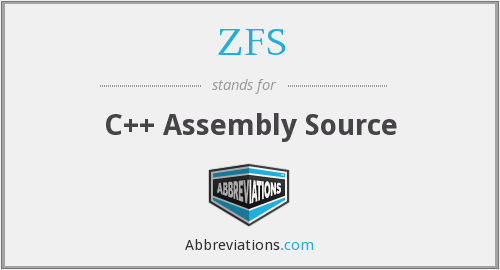 ZFS - C++ Assembly Source