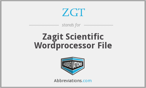 ZGT - Zagit Scientific Wordprocessor File