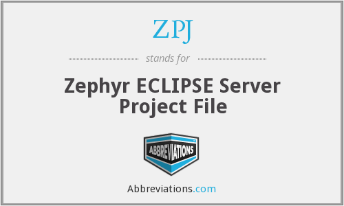 ZPJ - Zephyr ECLIPSE Server Project File