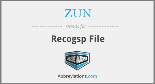 ZUN - Recogsp File