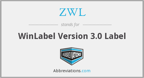 ZWL - WinLabel Version 3.0 Label