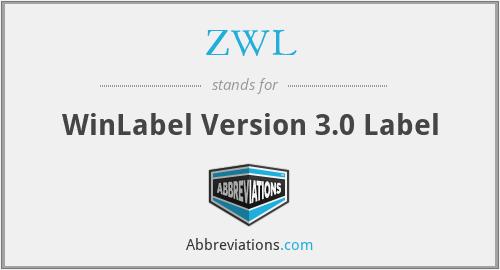 ZWL - WinLabel Version 3.0 Label