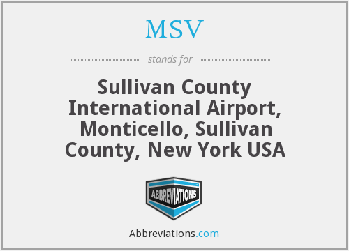 MSV - Sullivan County International Airport, Monticello, Sullivan County, New York USA
