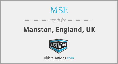 MSE - Manston, England, UK