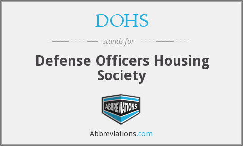 What does DOHS stand for?