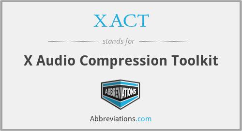 XACT - X Audio Compression Toolkit