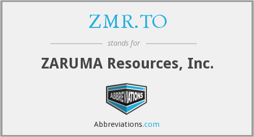 What does ZMR.TO stand for?