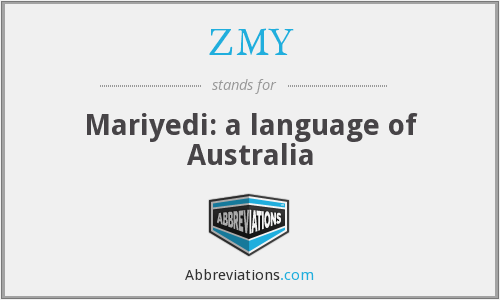 ZMY - Mariyedi: a language of Australia