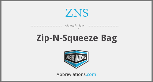 ZNS - Zip-N-Squeeze Bag