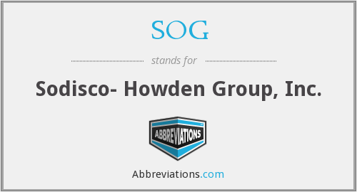 SOG - Sodisco- Howden Group, Inc.