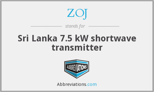 ZOJ - Sri Lanka 7.5 kW shortwave transmitter