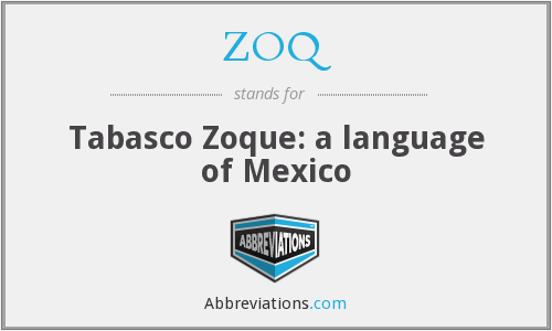 What does ZOQ stand for?