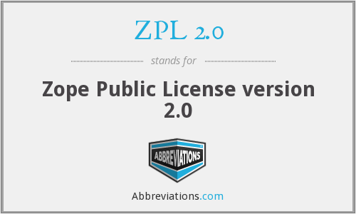 ZPL 2.0 - Zope Public License version 2.0
