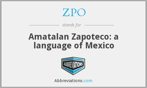 ZPO - Amatalan Zapoteco: a language of Mexico