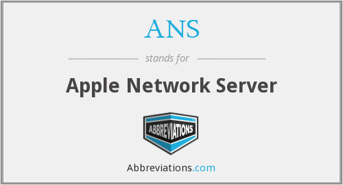 ANS - Apple Network Server