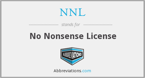 NNL - No Nonsense License