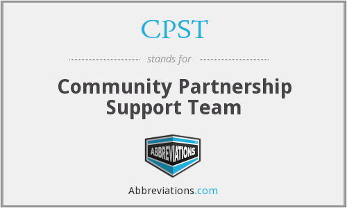 CPST - Community Partnership Support Team