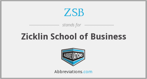 ZSB - Zicklin School Of Business