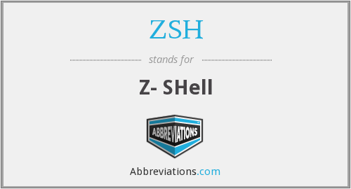 What does ZSH stand for?