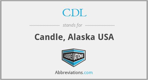 CDL - Candle, Alaska USA