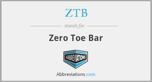 ZTB - Zero Toe Bar