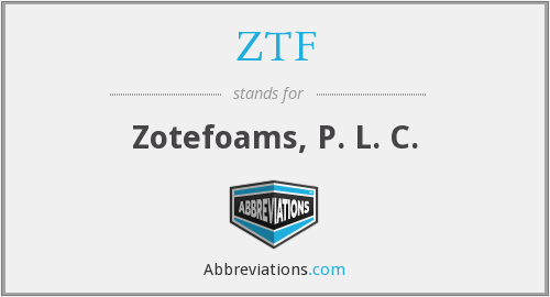 What does ZTF stand for?